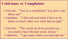 Criticisms vs. Complaints